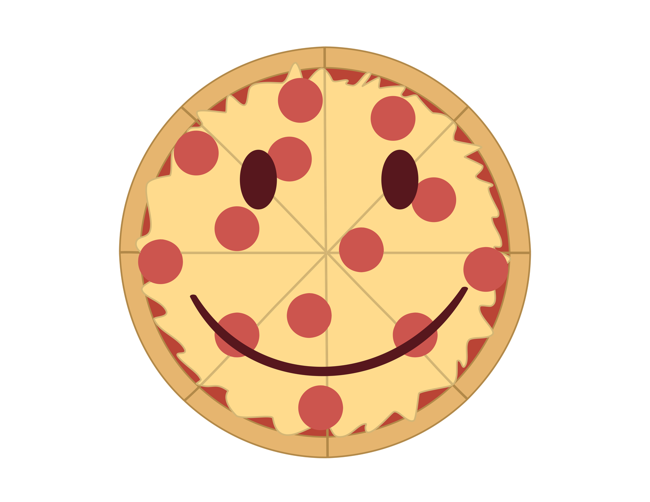 A Pizza Happy Face