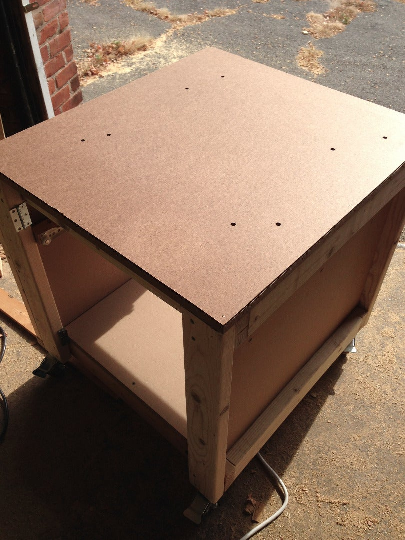 Install Casters & Table Top