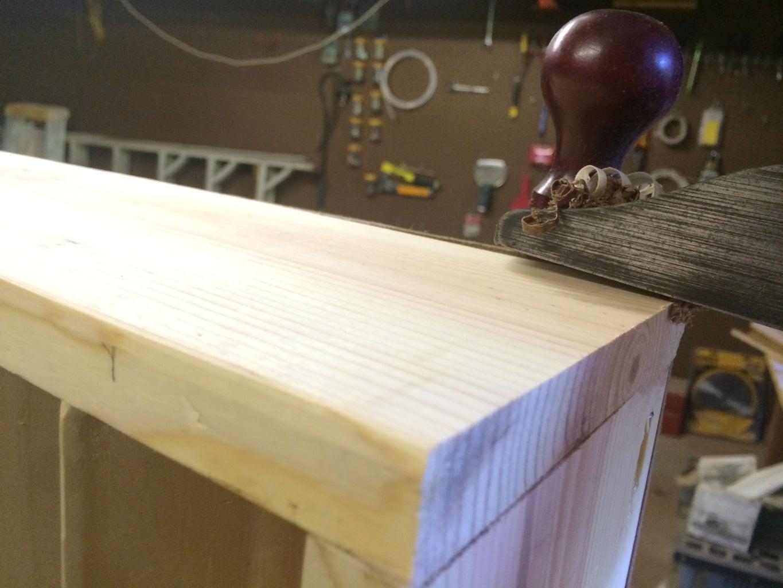 Attaching the Hardboard