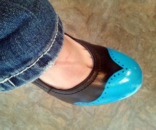 DIY Painted Wingtip Shoes