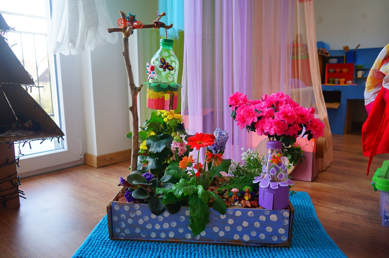 Fairy Garden Made From Re-purposed Plastic Waste