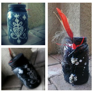 """Spooky """"Voodoo"""" Apothecary Powder & Potion Spell Bottles for Halloween"""