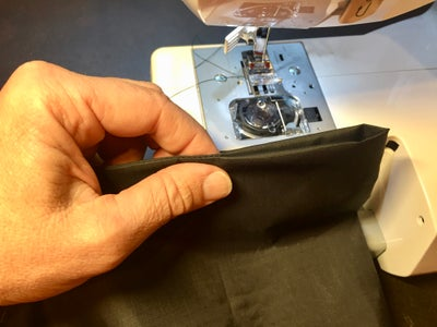Invert Bags and Attach Velcro