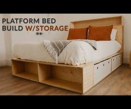 Plywood Platform Bed With Storage