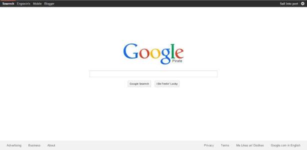 Google Pirate Interface