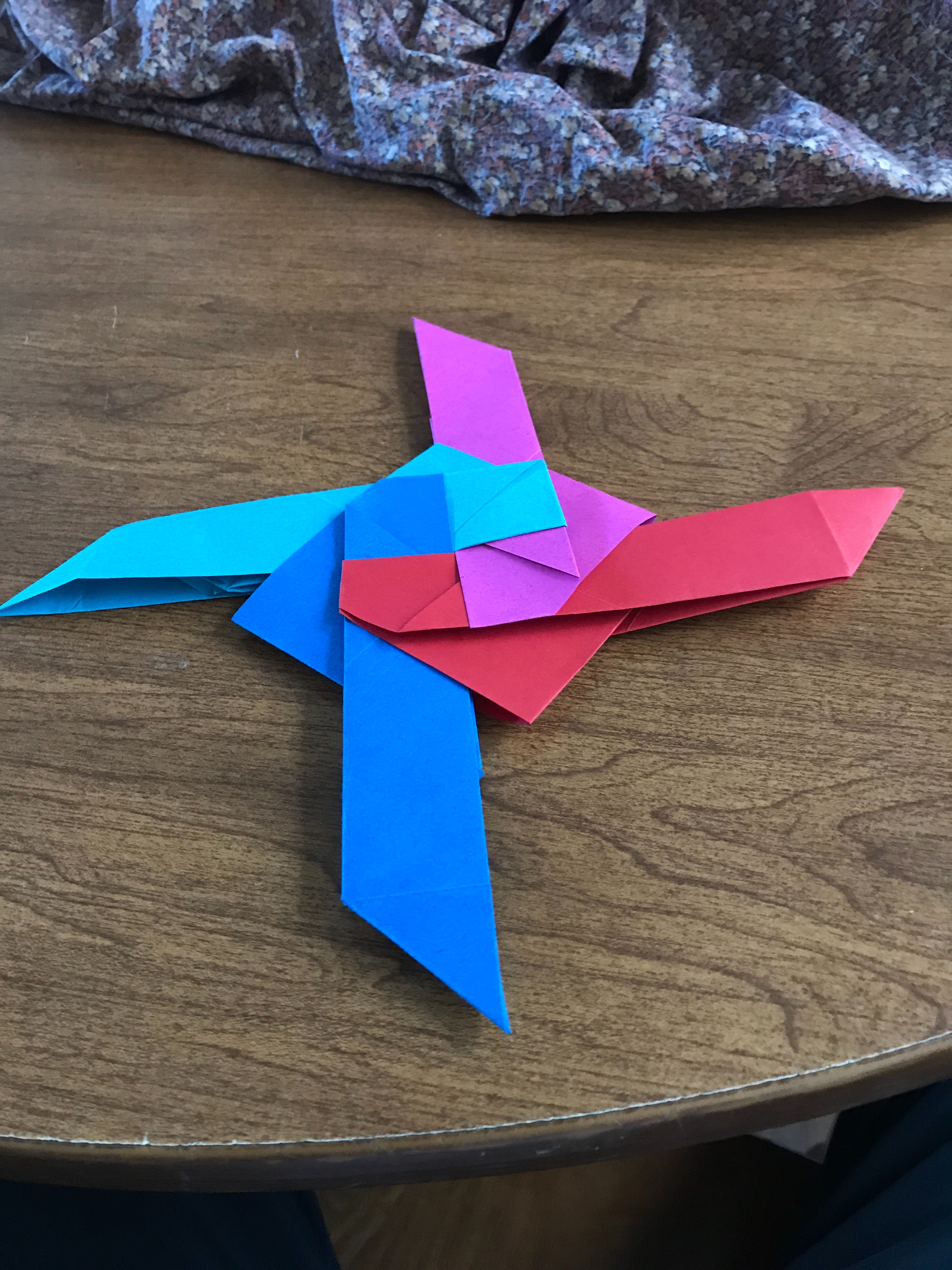 How to Make a 4-Pointed Transforming Ninja Star