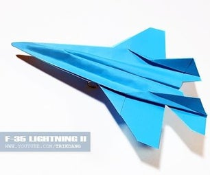 How to Make a Paper Plane That Flies   F-35 Lightning II