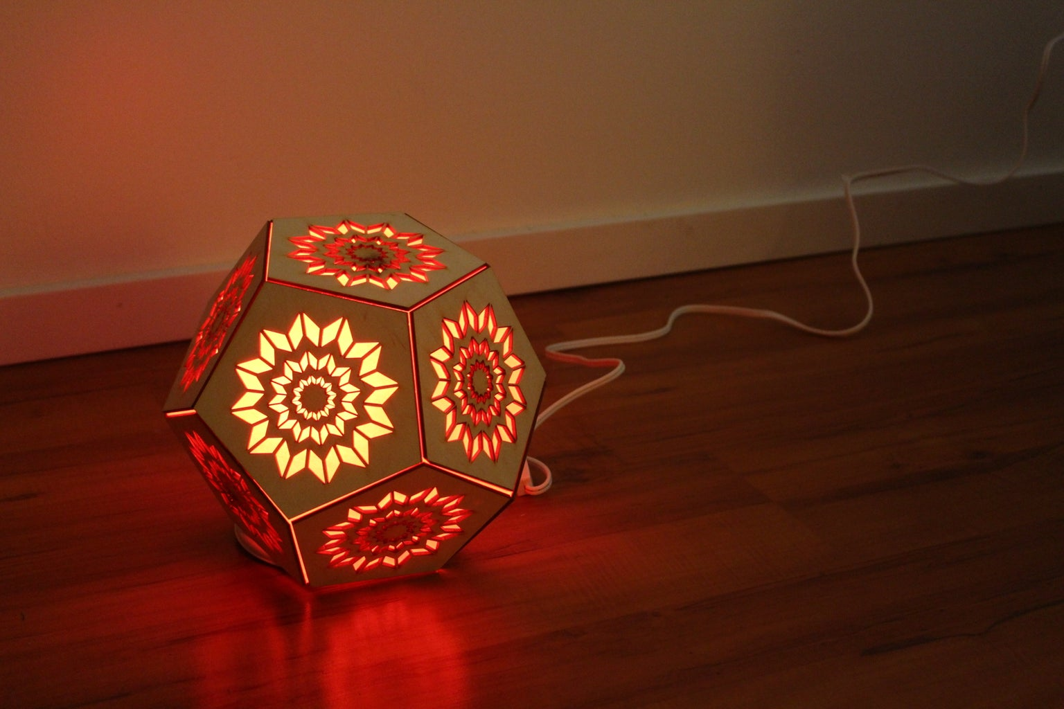 """""""Thinking of You"""" Remotely Operated Dodecahedron Lamp - Communicate With Light!"""