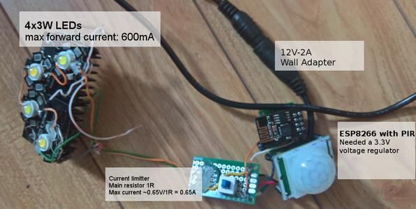 LED Light and Motion Sensor Shared One ESP8266