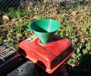 3D Printer Threaded Funnel
