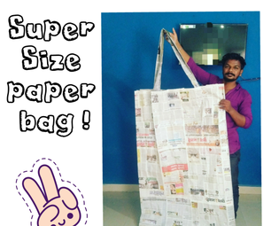 Supersize News Paper Bag