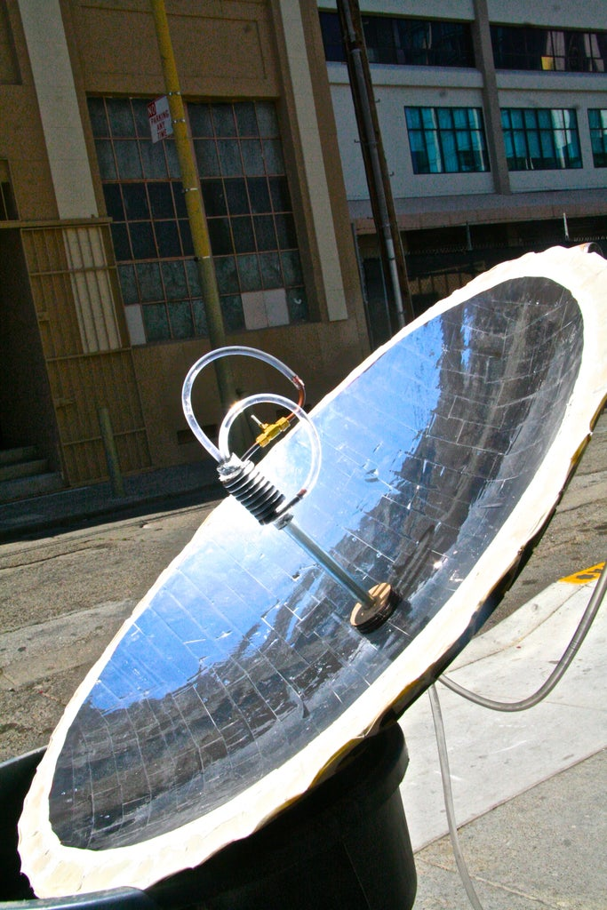 Building a Parabolic Solar Hot-Water Heater Using 123D