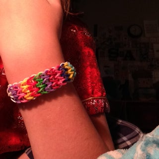 Triple Single Rainbow Loom Bracelet