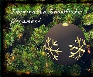 Illuminated Snowflake  Ornament