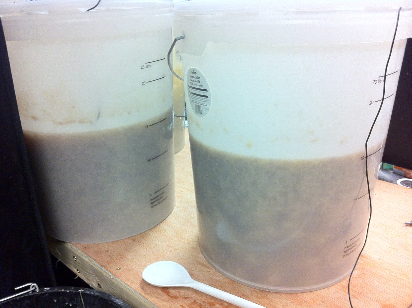 During Fermenting and Racking