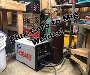Converting a Flux Core Welder to a Mig Gas Welder