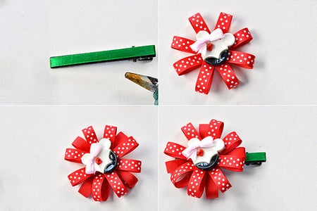Finish the Bear Ribbon Hair Clip
