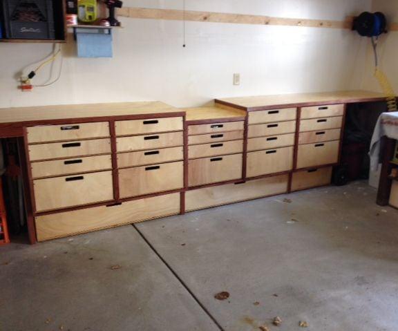 Easy Garage Storage and Bench