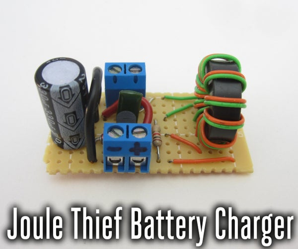 Joule Thief Low Voltage Battery Charger