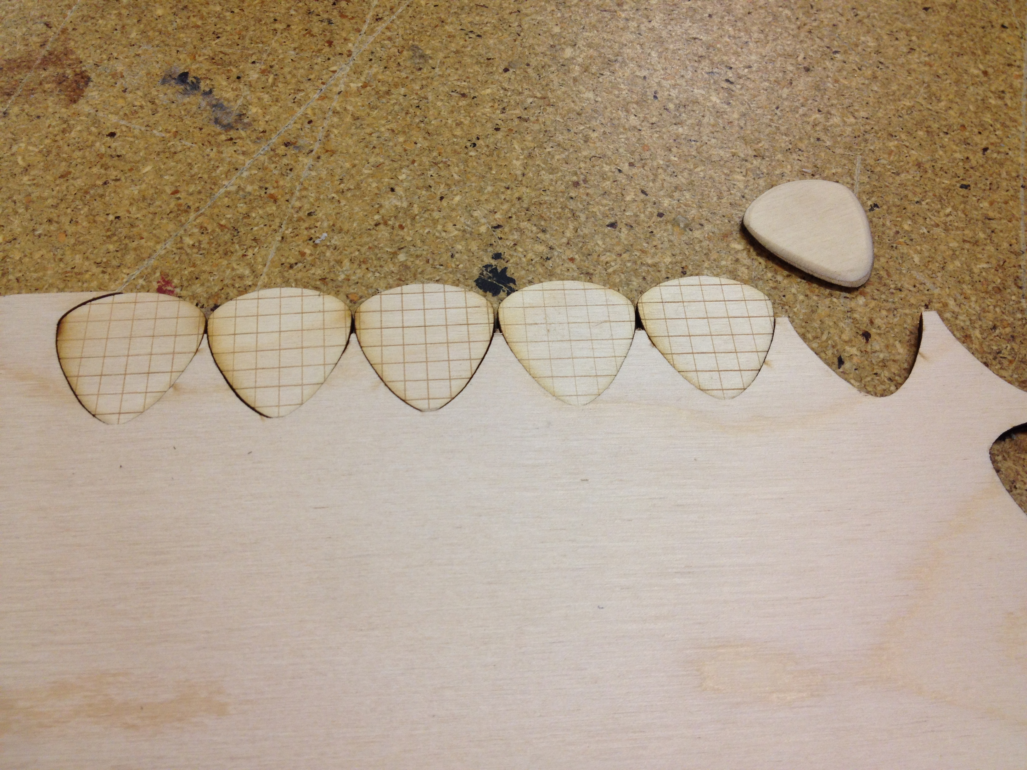 Laser Cutter Guitar Picks