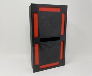 三维打印七段机电单电机驱动显示器。