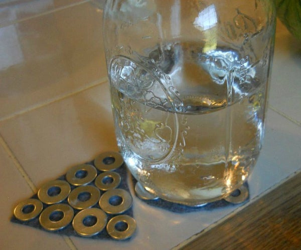 Stainless Steel Washer Coasters