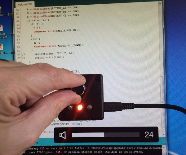 USB Volume Control and Caps Lock LED - Simple, Cheap, Extensible