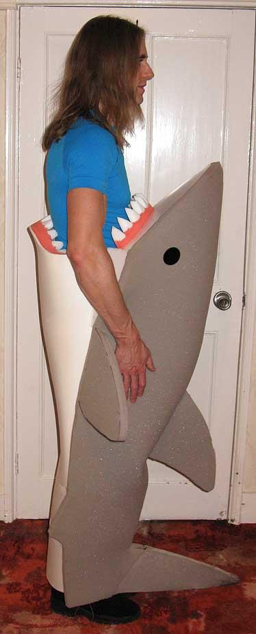 Man-eating shark costume
