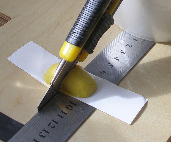Sugru Aplication for Cutting at Right Angles Using a Knife
