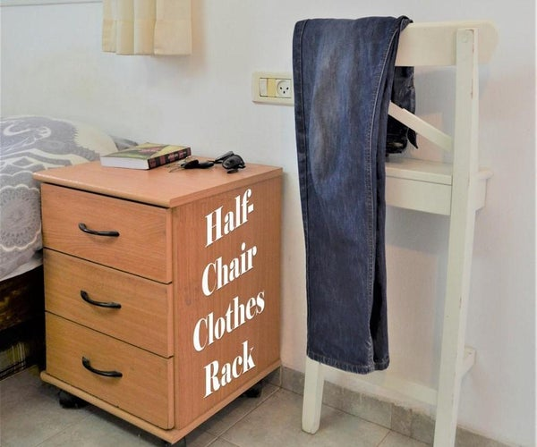 Half-Chair Clothes Rack