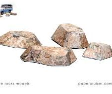 A simple paper rock