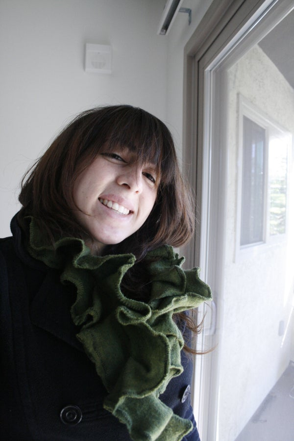 Upcycled Victorian-esque Ruffle Scarf (In Less Than an Hour, and Less Than 5 Dollars!)