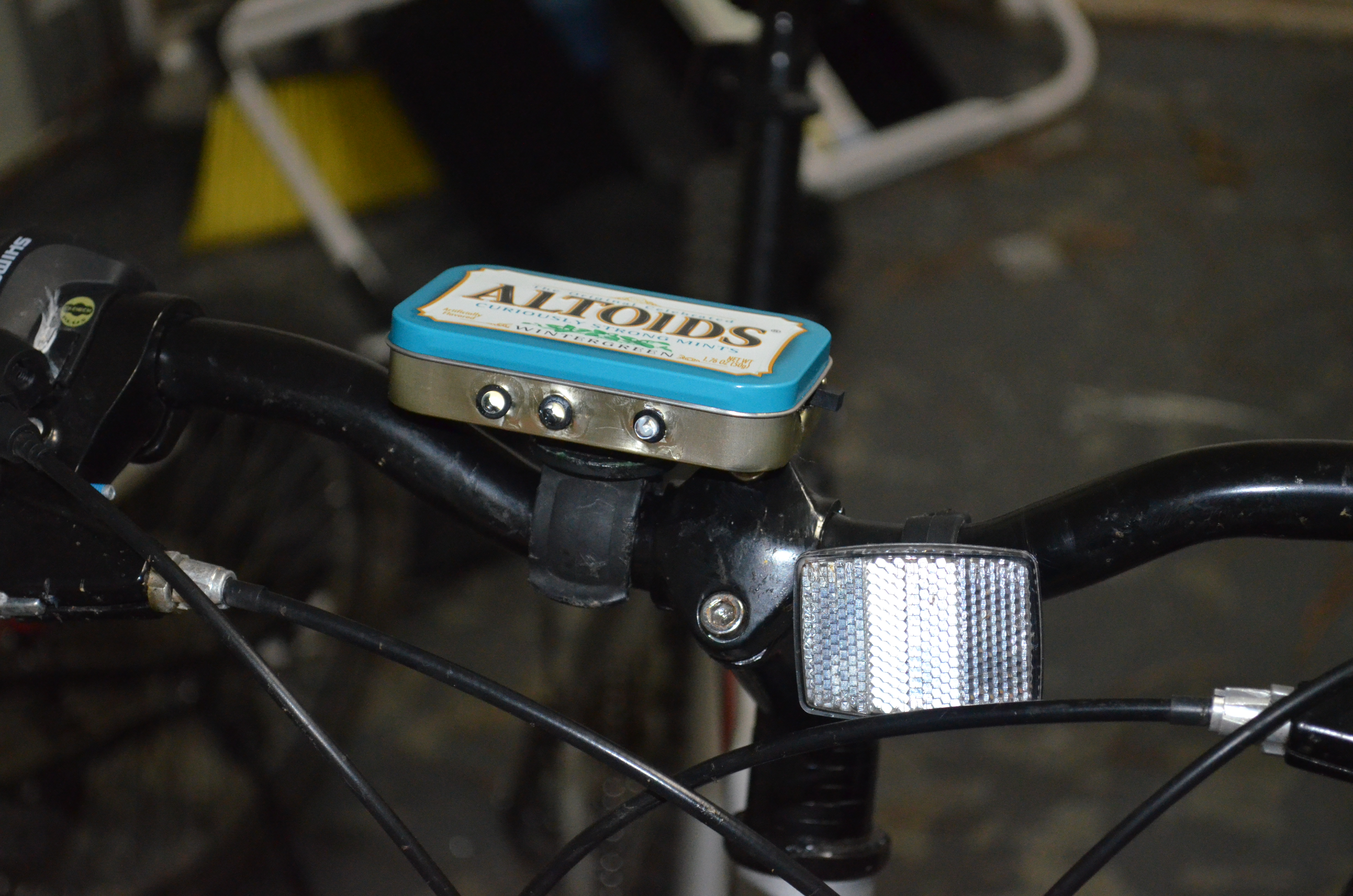 Altoids Bike Headlight On The Cheap!