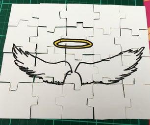 如何制作定制纸板拼图Quick Quick,便宜和整洁