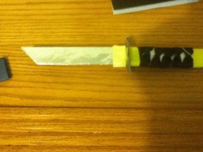 3D-ish Paper/aluminum Samurai Knife