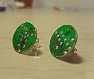 Circuit Board Earrings
