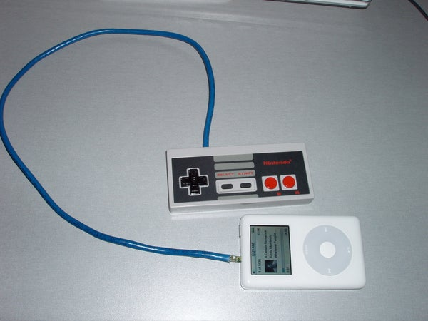 NES Controller IPod Remote