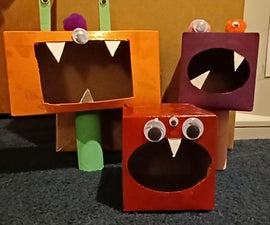 Monster Game Made Out of Tissue Boxes