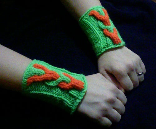 Enchanted Wristguards (knitted Arm Warmers)