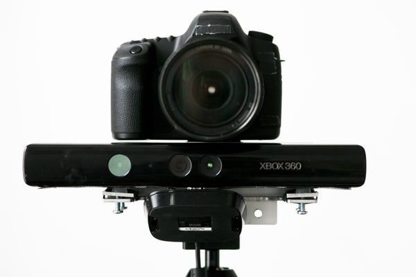 RGBDToolkit Aluminum Mount for Kinect & DSLR/video Camera