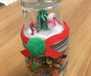 Faux Snow Globe Gift Jars