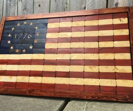 Easy - Scrap 2x4 End Grain Flag