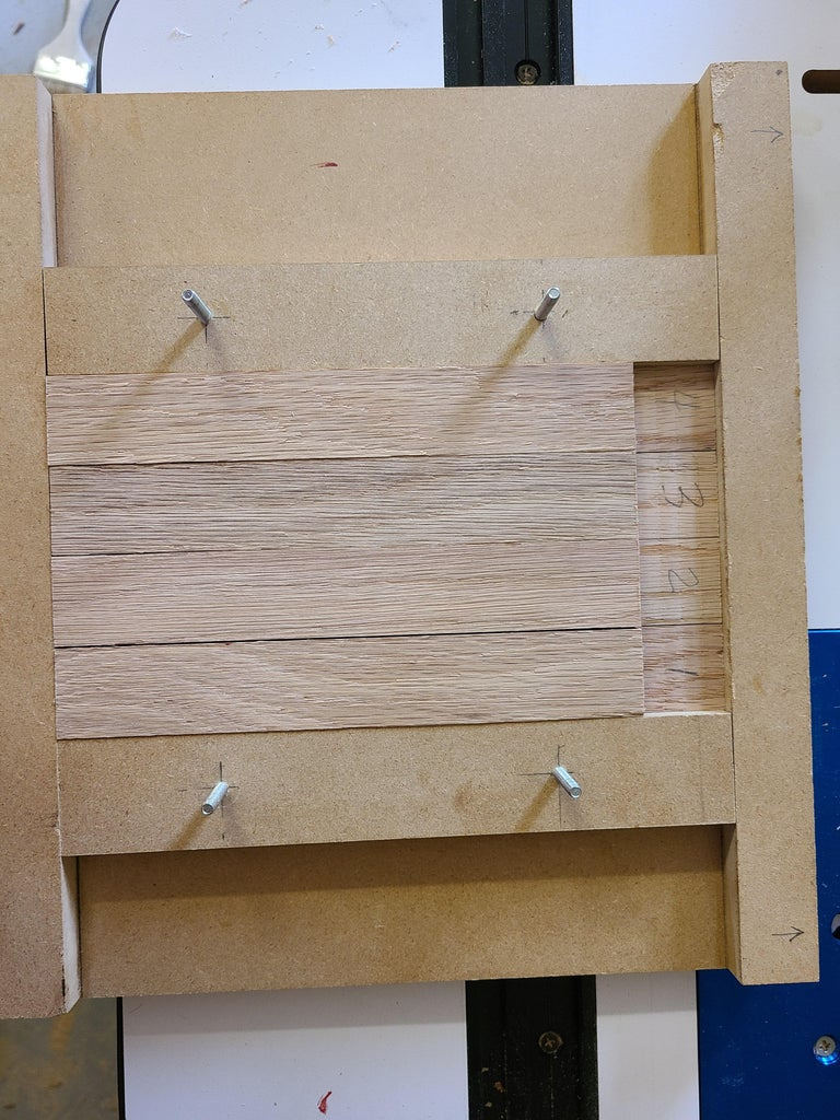 Cutting the Half Lap Joints - Running the Parts Through the Router