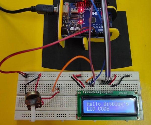 16*2 Lcd Arduino Display
