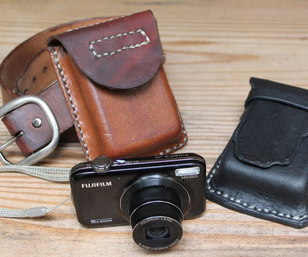 Simple Durable Leather Camera Case