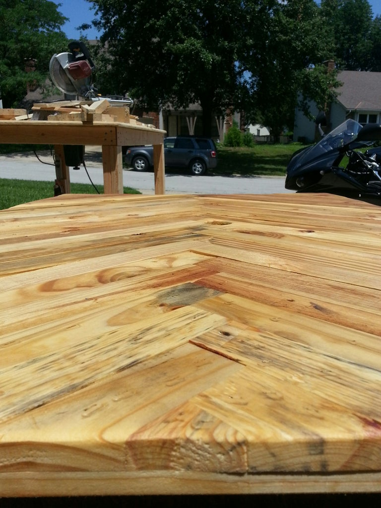 Adding the Stain and Sealer