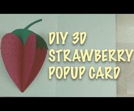Super Cute 3D Strawberry Popup Card
