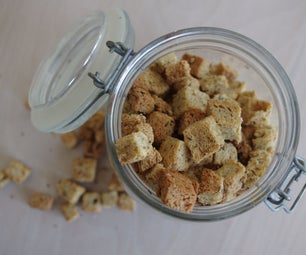 Easy Bread Croutons