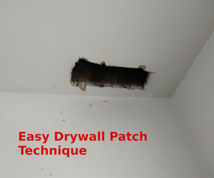 Easy Drywall Patch - Blowout Patch Method