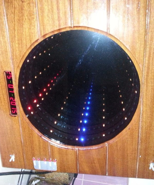 Infinity Mirror Clock With Patterns, Date and Chime